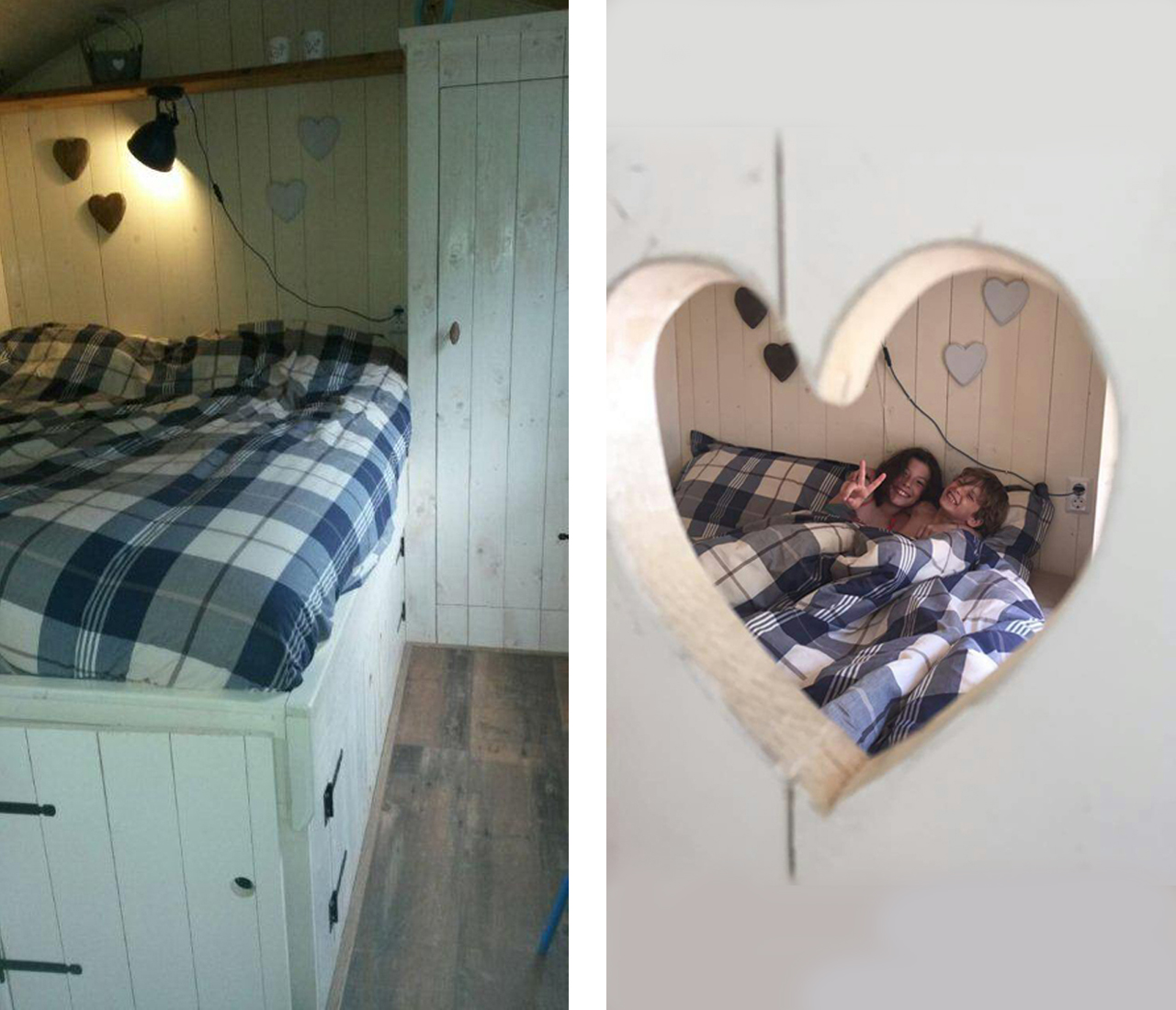 Pipowagen slaapkamer
